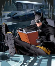 Batman Caught Reading