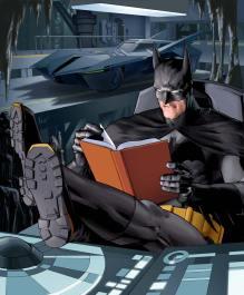 Batman Caught Reading